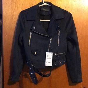 Zara Suede Biker Jacket NWT